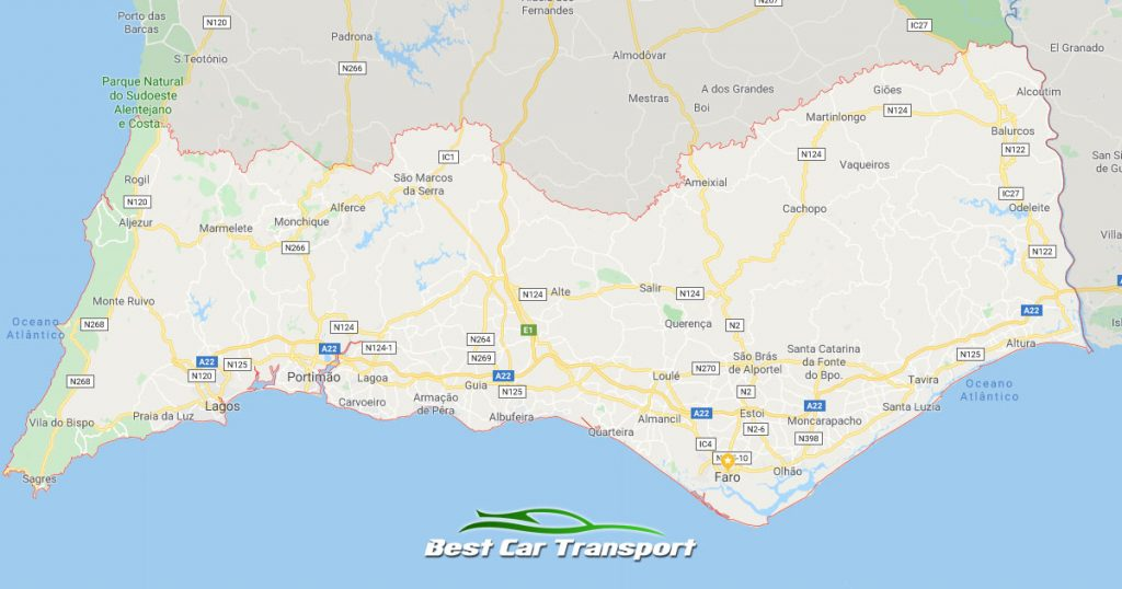 Car Transport from The Algarve Portugal to Ireland - Best Car Transport OG01