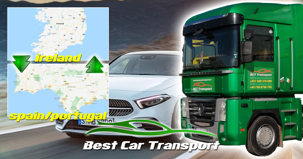 BEst Car Transport Car Shipping Ireland Spain Portugal OG01